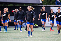 Boston, MA - Friday July 07, 2017: Megan Oyster and the Boston Breakers  during a regular season National Women's Soccer League (NWSL) match between the Boston Breakers and the Chicago Red Stars at Jordan Field.