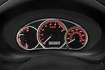 Instrument panel close up detail view of a 2009 Subaru Impreza Wagon WRX