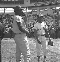 maury wills au Match des Expos, le 14 avril 1969, <br /> au Parc Jarry
