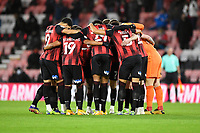 AFC Bournemouth huddle prior to kick off during AFC Bournemouth vs Wycombe Wanderers, Sky Bet EFL Championship Football at the Vitality Stadium on 15th December 2020