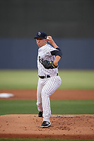 Tampa Yankees starting pitcher Taylor Widener (28) delivers a pitch during a game against the Fort Myers Miracle on April 12, 2017 at George M. Steinbrenner Field in Tampa, Florida.  Tampa defeated Fort Myers 3-2.  (Mike Janes/Four Seam Images)