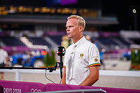 BEL-Jerome Guery speaks with the press after the Jumping Individual Qualifier. Tokyo 2020 Olympic Games. Tuesday 3 August 2021. Copyright Photo: Libby Law Photography