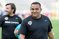 Frisco, TX - Sunday September 03, 2017: Omar Morales during a regular season National Women's Soccer League (NWSL) match between the Houston Dash and the Seattle Reign FC at Toyota Stadium in Frisco Texas. The match was moved to Toyota Stadium in Frisco Texas due to Hurricane Harvey hitting Houston Texas.