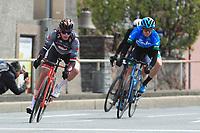 2021 Cycling Tour of the Alps Stage 1 Bressanone, Innsbruck, Italy, Austria Apr 19th;  From left, Felix Engelhardt (Tirol), Alessandro De Marchi (Israel SUN) and Marton Dina (Eolo)