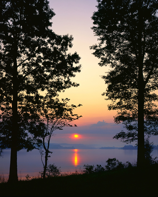 Sunrise light on Lake Barkley; Land Between The Lakes Recreation Area, KY