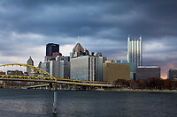 The city of Pittsburgh as seen from the Gateway Clipper after the Pitt football game. The Pitt Panthers defeated the Syracuse Orange 76-61 at Heinz Field in Pittsburgh, Pennsylvania on November 26, 2016.