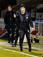 2nd February 2021; St Mirren Park, Paisley, Renfrewshire, Scotland; Scottish Premiership Football, St Mirren versus Hibernian; St Mirren manager Jim Goodwin