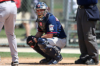 March 18, 2010:  Catcher Chris Herrmann (28) of the Minnesota Twins organization during Spring Training at the Ft. Myers Training Complex in Ft. Myers, FL.  Photo By Mike Janes/Four Seam Images