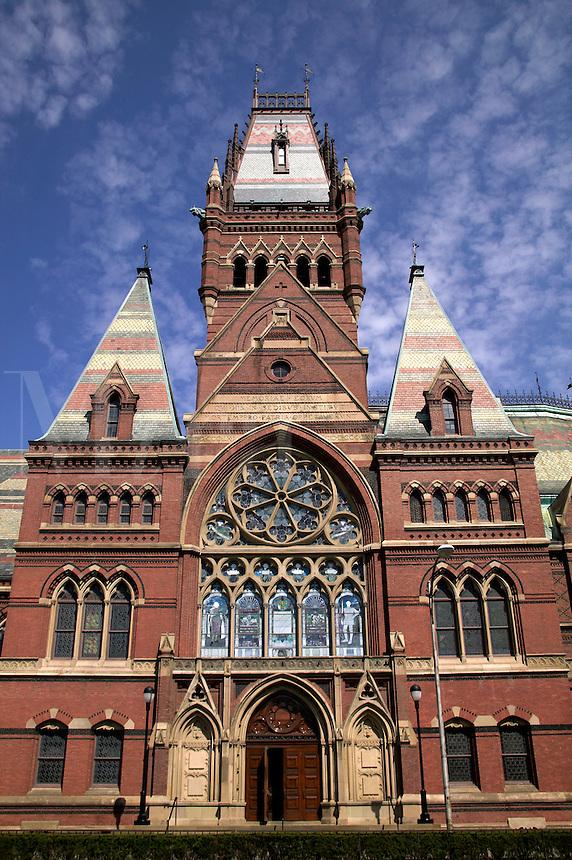 Memorial Hall and Sanders Theater, Harvard University, Cambridge, M