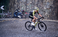 Robert Stannard (AUS/Mitchelton-Scott) racing in torrential rains up Il Piccolo Stelvio at <br /> Grande Trittico Lombardo 2020 (1.Pro/ITA)<br /> 1 day race from Legnano to Varese (200km)