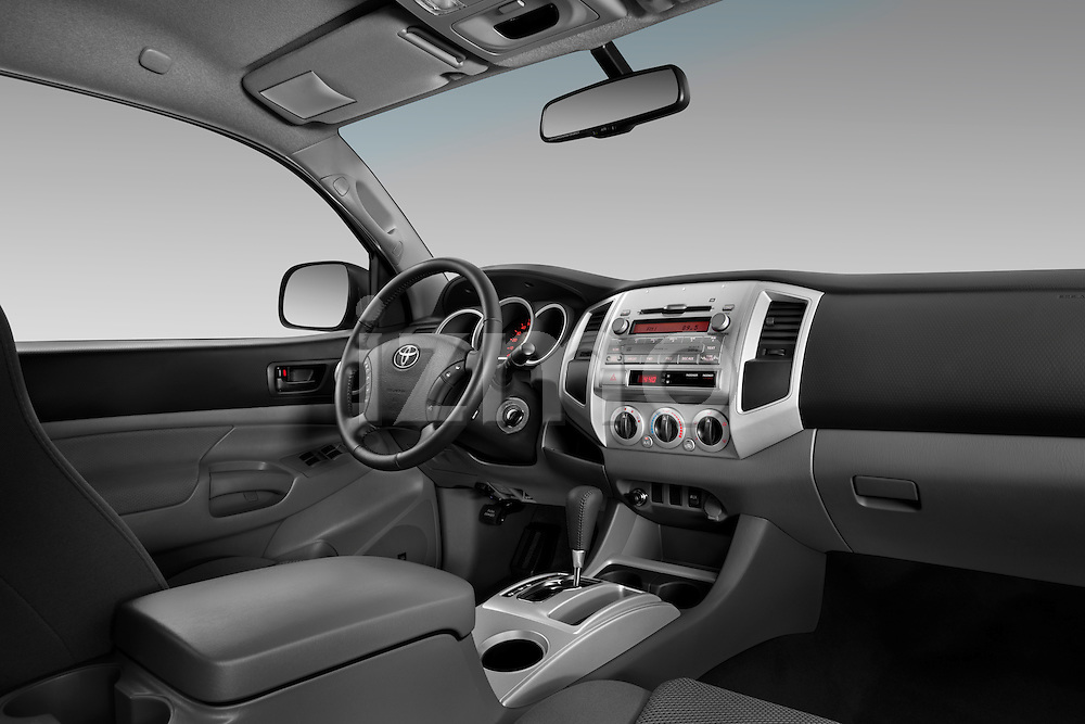 Passenger dashboard view of a 2011 Toyota Tacoma PreRunner Off Road Double Cab