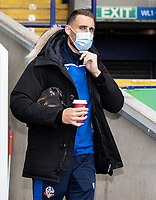 Bolton Wanderers' George Taft arriving at the ground<br /> <br /> Photographer Andrew Kearns/CameraSport<br /> <br /> The EFL Sky Bet League Two - Bolton Wanderers v Oldham Athletic - Saturday 17th October 2020 - University of Bolton Stadium - Bolton<br /> <br /> World Copyright © 2020 CameraSport. All rights reserved. 43 Linden Ave. Countesthorpe. Leicester. England. LE8 5PG - Tel: +44 (0) 116 277 4147 - admin@camerasport.com - www.camerasport.com