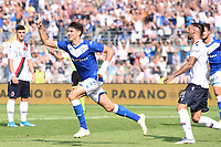 Celebration after a goal of Andrea Cistana <br /> Brescia 15/09/2019 Stadio Mario Rigamonti <br /> Football Serie A 2019/2020 <br /> Brescia Calcio - Bologna FC <br /> Photo Image Sport / Insidefoto
