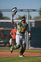 Oakland Athletics Santiago Chavez (22) during an instructional league game against the San Francisco Giants on October 12, 2015 at the Giants Baseball Complex in Scottsdale, Arizona.  (Mike Janes/Four Seam Images)
