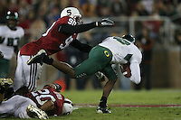 22 September 2007: Udeme Udofia during Stanford's 55-31 loss to the University of Oregon at Stanford Stadium in Stanford, CA.