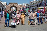 Essaouira, Morocco.  Street Scene, Avenue Mohammed Zerktouni.