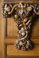 Europe/France/Provence-Alpes-Côte d'Azur/06/Alpes-Maritimes/Nice:  Hôtel: Le Négresco- Le Bar détail sculpture des boiseries