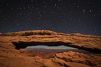 Moonlight Magic Arch - Canyonlands Np, Utah - Mesa Arch
