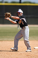March 15, 2010:  Infielder Blake Tolan of the Fontbonne University Griffins in a game vs. Roger Williams University Hawks at Lake Myrtle Park in Auburndale, FL.  Photo By Mike Janes/Four Seam Images