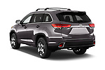 Car pictures of rear three quarter view of 2018 Toyota Highlander Limited-Platinum 5 Door SUV Angular Rear