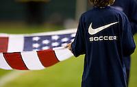 USA flag.USA vs Honduras, Saturday Jan. 23, 2010 at the Home Depot Center in Carson, California. Honduras 3, USA 1.
