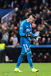 Goalkeeper Jaume Domenech of Valencia CF celebrates a team goal during the UEFA Champions League 2018-19 match between Valencia CF and Manchester United at Estadio de Mestalla on December 12 2018 in Valencia, Spain. Photo by Maria Jose Segovia Carmona / Power Sport Images