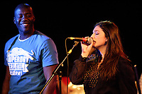 Montreal (Qc) CANADA - Nov 26 2008 -<br /> <br /> Marven Denis with special guest Maya Amar (R) plays at SAINTS Club in Montreal