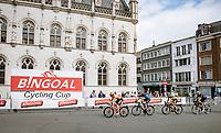 breakaway group crossing the Kortrijk city center <br /> <br /> Grote Prijs Marcel Kint 2021<br /> One day race from Zwevegem to Kortrijk (196km)<br /> <br /> ©kramon