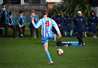 Action from the 1st XI boys youth grade football match between Rongotai College and St Pat's Silverstream at St Patrick's College in Wellington, New Zealand on Wednesday, 23 June 2021. Photo: Dave Lintott / lintottphoto.co.nz