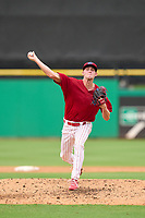 Clearwater Threshers pitcher Sam Jacobsak (39) during a game against the Fort Myers Mighty Mussels on July 29, 2021 at BayCare Ballpark in Clearwater, Florida.  (Mike Janes/Four Seam Images)
