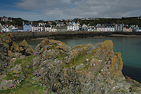 The seafront at Portpatrick from near the harbour, Dumfries and Galloway<br /> <br /> Copyright www.scottishhorizons.co.uk/Keith Fergus 2011 All Rights Reserved