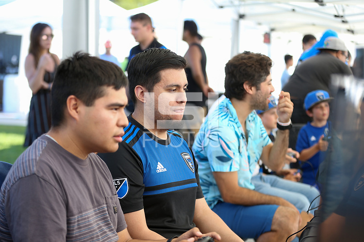 SAN JOSE, CA - AUGUST 03: esports, CaliSCG  prior to a Major League Soccer (MLS) match between the San Jose Earthquakes and the Columbus Crew on August 03, 2019 at Avaya Stadium in San Jose, California.