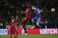 Carson, CA - Sunday January 28, 2018: CJ Sapong, Marko Mihojević during an international friendly between the men's national teams of the United States (USA) and Bosnia and Herzegovina (BIH) at the StubHub Center.