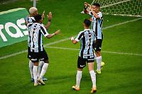 PORTO ALEGRE, RS, 02.06.2021 - GREMIO - BRASILIENSE - O  meia atacante Jean Pyerre, da equipe do Grêmio, comemora o seu gol, na partida entre Grêmio e Brasiliense, válida pela Copa do Brasil, no estádio Arena do Grêmio, em Porto Alegre, nesta quarta-feira (02).