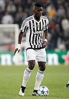 Calcio, Champions League: Gruppo D - Juventus vs Siviglia. Torino, Juventus Stadium, 30 settembre 2015. <br /> Juventus' Paul Pogba in action during the Group D Champions League football match between Juventus and Sevilla at Turin's Juventus Stadium, 30 September 2015. <br /> UPDATE IMAGES PRESS/Isabella Bonotto