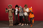Education Elementary Grade 3 group of boys and girls in costumes for play