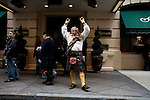Saturday, April 14,  2007, New York, New York.. The 9th annual Tartan Day Parade was held today on 6th Avenue between 44th and 58th Streets.. Thousands turned out to play the drums, pipes and to view all those dressed for the occasion.. Robert MacWethy dances before the start of the parade.