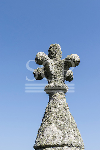 Cornwall, England,. Stone finial detail from St Michael's Mount.