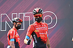 Damiano Caruso (ITA) Bahrain Victorious at sign on before the start of Stage 20 of the 2021 Giro d'Italia, running 164km from Verbania to Valle Spluga-Alpe Motta, Italy. 29th May 2021.  <br /> Picture: LaPresse/Gian Mattia D'Alberto   Cyclefile<br /> <br /> All photos usage must carry mandatory copyright credit (© Cyclefile   LaPresse/Gian Mattia D'Alberto)