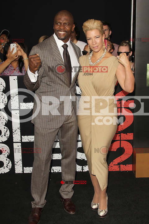 Terry Crews and Rebecca King-Crews at Lionsgate Films' 'The Expendables 2' premiere on August 15, 2012 in Hollywood, California. ©mpi28/MediaPunch Inc. /NortePhoto.com<br /> <br /> **CREDITO*OBLIGATORIO** *No*Venta*A*Terceros*<br /> *No*Sale*So*third* ***No*Se*Permite*Hacer*Archivo***No*Sale*So*third*