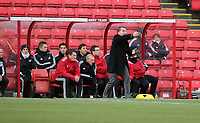 Pictured: Swansea manager Brendan Rodgers shouts instructions to his players. Saturday 07 January 2012<br /> Re: FA Cup football Barnsley FC v Swansea City FC at the Oakwell Stadium, south Yorkshire.
