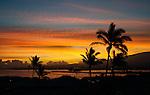 A sunrise over the harbor at Kahului, Maui