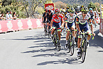 Intermarché-Wanty-Gobert Matériaux with Red Jersey Odd Christian Eiking (NOR) on the front of the peloton during Stage 15 of La Vuelta d'Espana 2021, running 197.5km from Navalmoral de la Mata to El Barraco, Spain. 29th August 2021.     <br /> Picture: Luis Angel Gomez/Photogomezsport | Cyclefile<br /> <br /> All photos usage must carry mandatory copyright credit (© Cyclefile | Luis Angel Gomez/Photogomezsport)