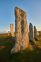 Monolth of Calanais Neolithic Standing Stone (Tursachan Chalanais) , Isle of Lewis, Outer Hebrides, Scotland.