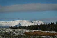 Snow covered peak of Blencathra (Saddleback) The Lake District.