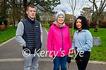 Enjoying a stroll in the Tralee town park on Monday, l to r: Derice Barry, Maude and Lydia Walsh