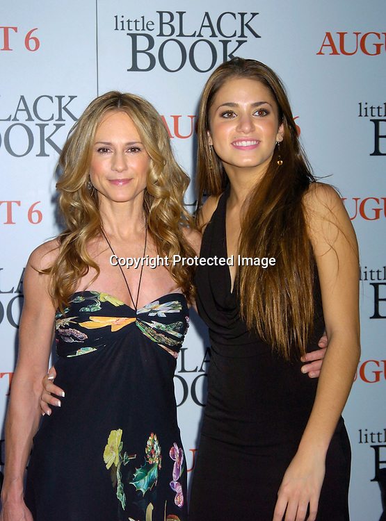 """Holly Hunter and Nicky Reed..at The Premiere of """" Little Black Book"""" on July 21, 2004 ..at The Ziegfeld Theatre. ..Photo by Robin Platzer, Twin Images"""