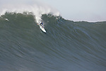 The giant wave Mavericks surfing competition at half Moon Bay California.
