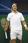 SHANGHAI, CHINA - OCTOBER 16:  Feliciano Lopez of Spain celebrates a point against Robin Soderling of Sweden during day six of 2009 Shanghai ATP Masters 1000 at Qi Zhong Tennis Centre on October 16, 2009 in Shanghai, China.  Photo by Victor Fraile / The Power of Sport Images