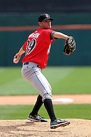 Indianapolis Indians pitcher Kris Johnson #39 during a game against the Buffalo Bisons at Coca-Cola Field on May 22, 2012 in Buffalo, New York.  Indianapolis defeated Buffalo 6-3.  (Mike Janes/Four Seam Images)